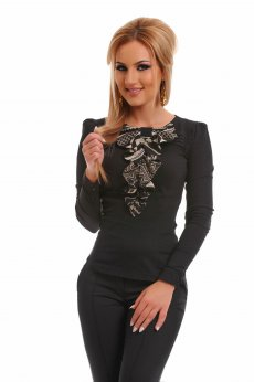 Fofy Feminine Grace Black Shirt