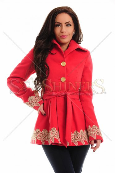 Palton LaDonna Low Embroidery Red
