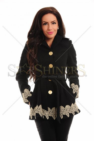 Palton LaDonna Low Embroidery Black