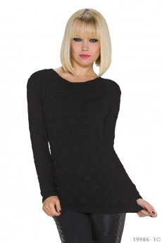 Lovely Simplicity Black Sweater