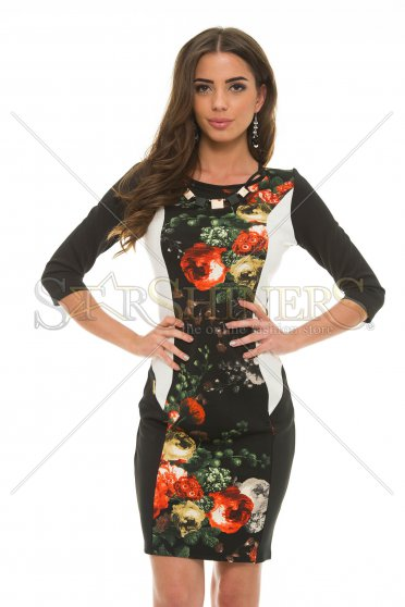 Rochie MissQ Flowered Table Black