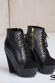 Mexton Magic Space Black Ankle Boots