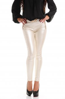 LaDonna Catchy Look Nude Trousers
