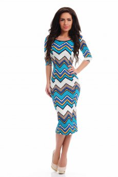Artista Contagious Notes Turquoise Dress