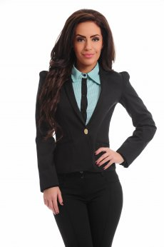 Artista Short Waist Black Jacket
