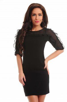 Rochie Frilly Shoulders Black