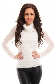 PrettyGirl Preoccupation White Sweater