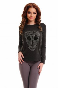 PrettyGirl Scary Grey Sweater