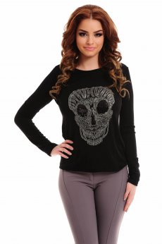 PrettyGirl Scary Black Sweater