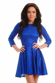 Rochie Artista Lacy Overlay Blue