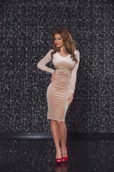 LaDonna Magnetic Effect Cream Dress