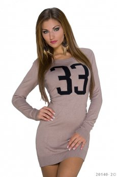 Rochie Lucky Number Brown