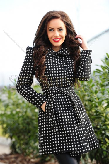 Palton Fofy Lovely Dots Black