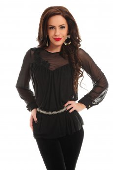 Bluza Artista Floral Thrill Black