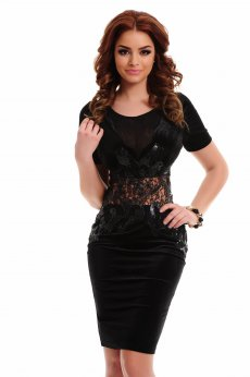 Artista Soft Waist Black Dress