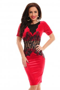 Artista Soft Waist Red Dress