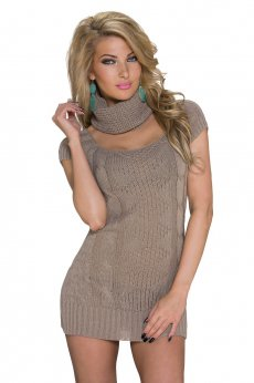 Warm Figure Brown Sweater