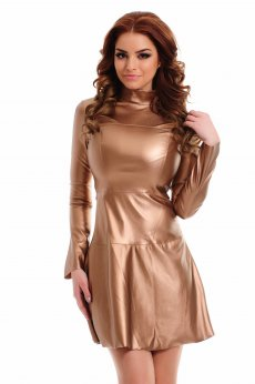 Ana Radu Spicy Touch Brown Dress