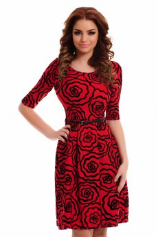 LaDonna Divine Drawing Red Dress
