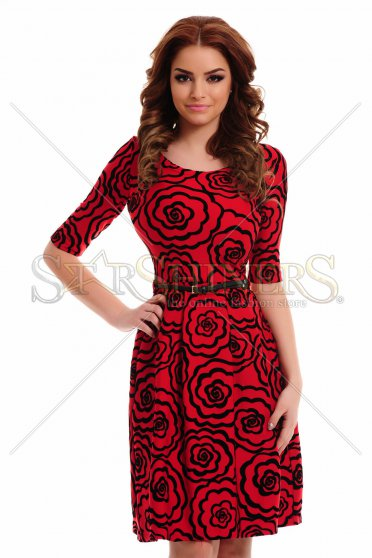 Rochie LaDonna Divine Drawing Red