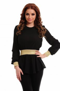 LaDonna High Passion Black Blouse