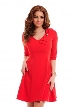 Rochie LaDonna Fantastic Bow Red