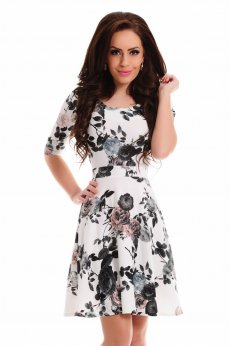 LaDonna Floral Bouquet Rosa Dress