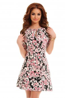 Rochie Artista Crowded Flowers Rosa