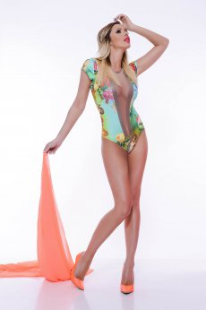 Body MissQ Floral Explosion Green