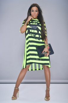Rochie MissQ Young Lines Green