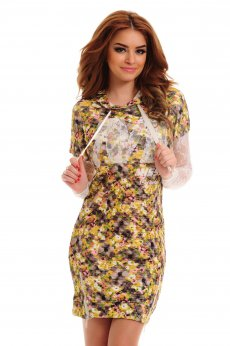 MissQ Crowded Flowers Brown Dress
