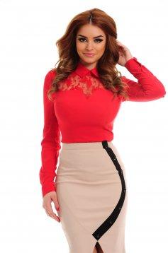 Camasa PrettyGirl Lace Maid Red