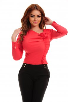Fofy Thrill Frill Coral Shirt