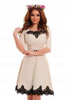 Rochie LaDonna Lovely Embroidery Nude