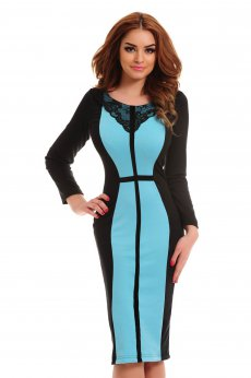 Rochie StarShinerS Chapter Turquoise
