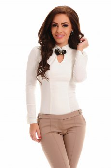 Fofy Chic Wear Nude Shirt