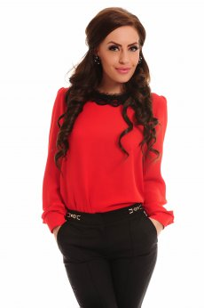 Bluza LaDonna Tearfully Lace Red