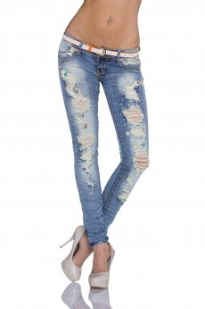 Jeans Lovely Rupture Blue