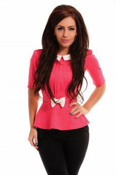 Fofy Lovely Waist Coral Shirt