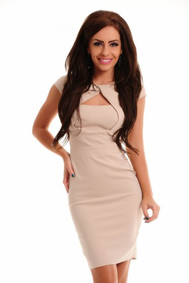 Rochie Artista Trendy Cleavage Cream