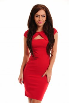 Rochie Artista Trendy Cleavage Red