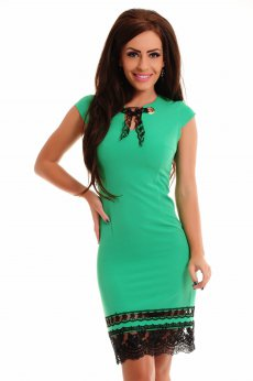 Rochie LaDonna Laced Bottom Green
