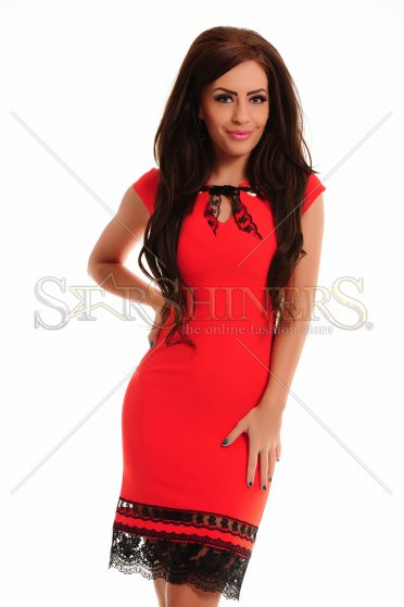Rochie LaDonna Laced Bottom Red
