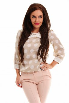 Bluza LaDonna Cute Dots Cream