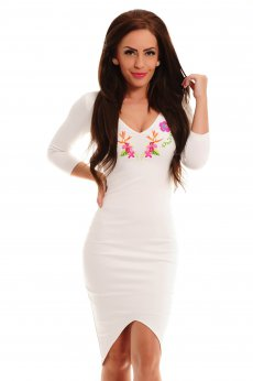 StarShinerS Brodata Paradise White Dress