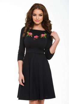 StarShinerS Brodata Sunrise Black Dress
