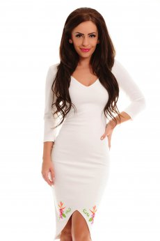 StarShinerS Brodata Lagoon White Dress