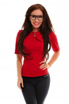 Fofy Bold Clue Red Shirt
