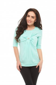 Artista Middle Ribbon Mint Blouse