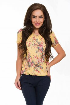 Bluza LaDonna Brave Flowers Yellow